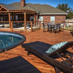 Poolside Deck and Pergola