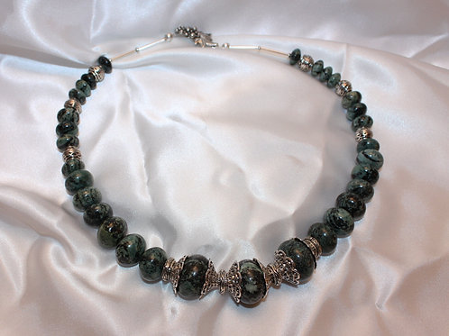 Green Jasper Bead Collar