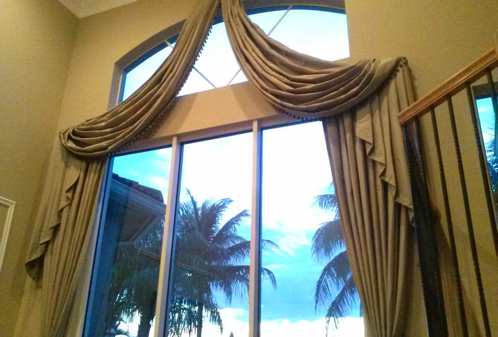 Custom Valance Over Arched Window