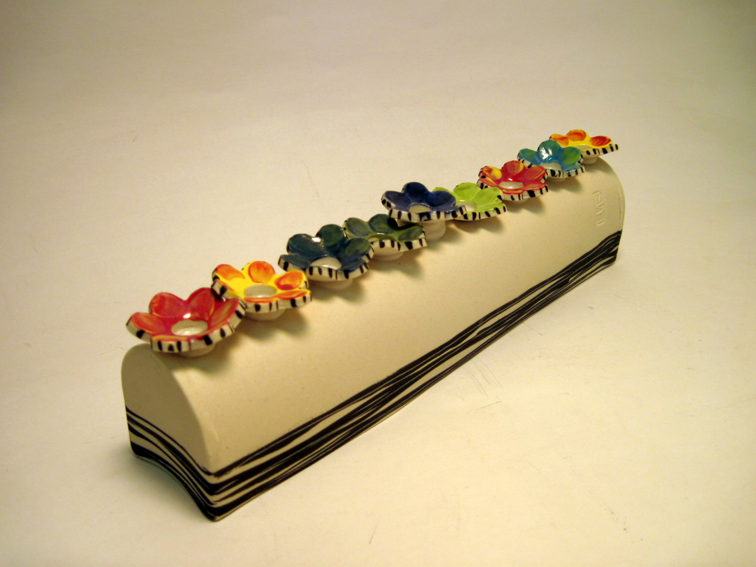 Flower menorah