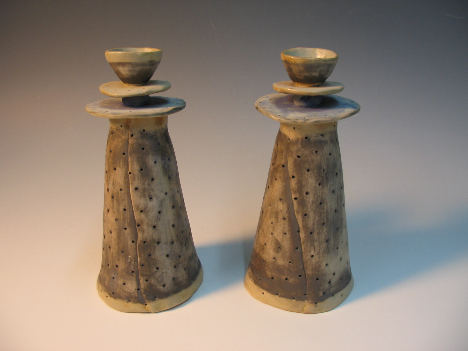 Candle sticks - porcelain