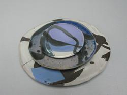 Copy of plate set with Lav mamo - stoneware
