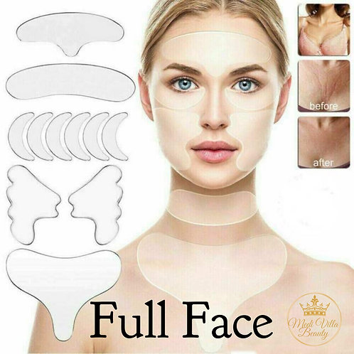 Medical Grade SIlicone Gel Full Face Gel Patches