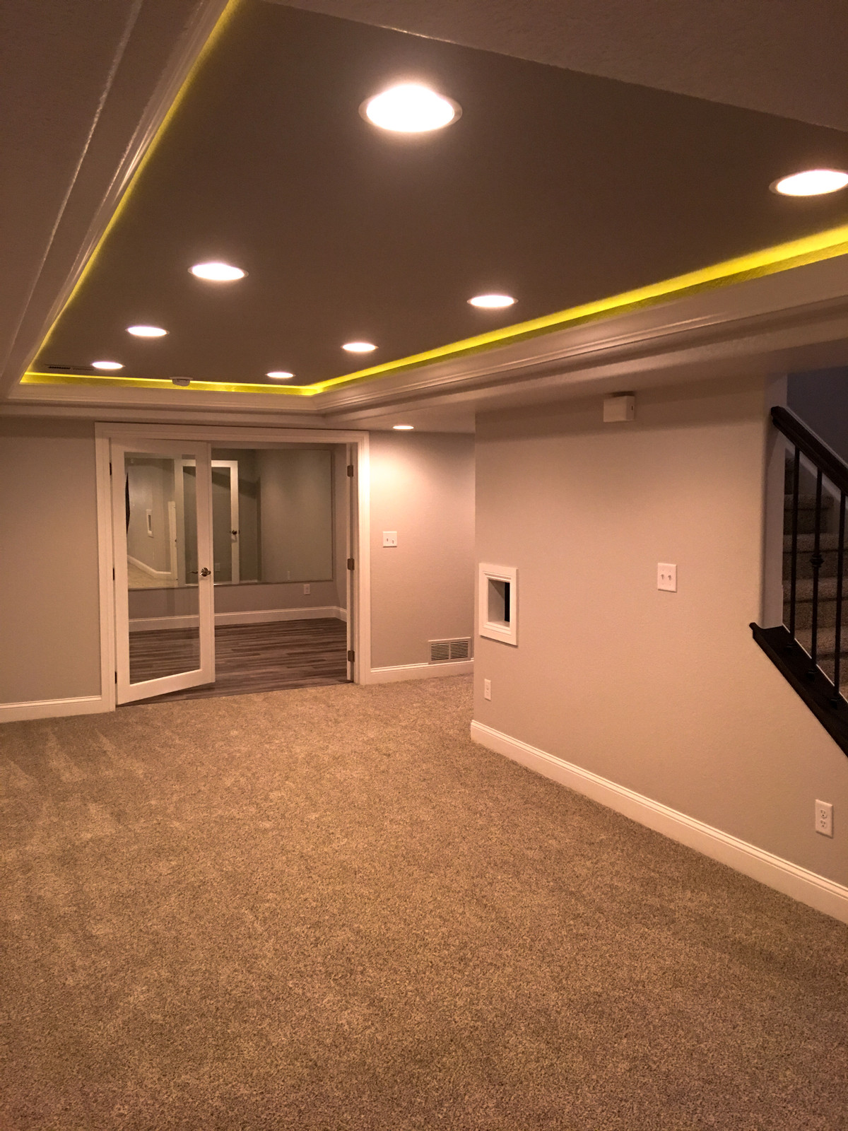 Tray Ceiling With Rope Lighting
