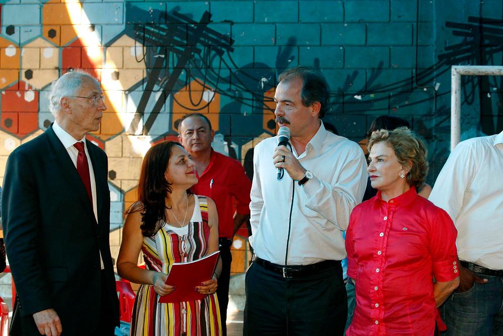 Visita de Aloizo Mercadante a Heliópolis - ano 2012
