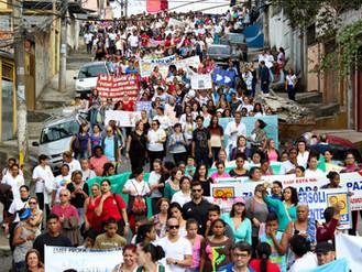 8ª Caminhada pela Paz na Região levanta a bandeira contra as desigualdades sociais.