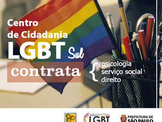 O Centro de Cidadania LGBT Sul está Contratando