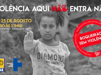 UNAS lança campanha de combate a violência infantil na favela do Boqueirão