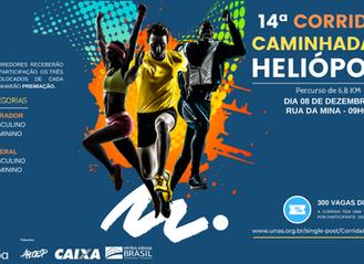 Estão abertas as inscrições para 14ª Corrida e Caminhada de Heliópolis
