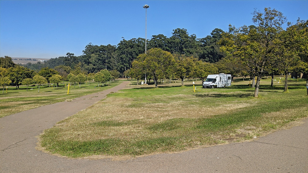 Our camping spot at Witbank leisure resort
