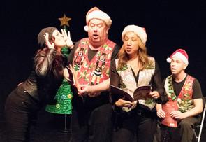 Holly mocks The Storytellers: Kaitlyn Sarah Baldwin, Richard Butler, Kristine Louis, and John Skocik.