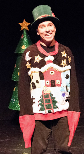 John Skocik as Cazz, the lovable Ugly Christmas Sweater.