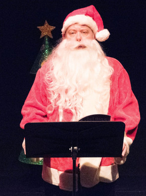 Richard Butler as Santa Claus, announcing his retirement from Christmas.