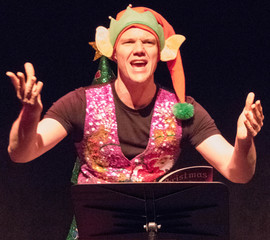 Brandon Grimes as Dumpling the devious elf.