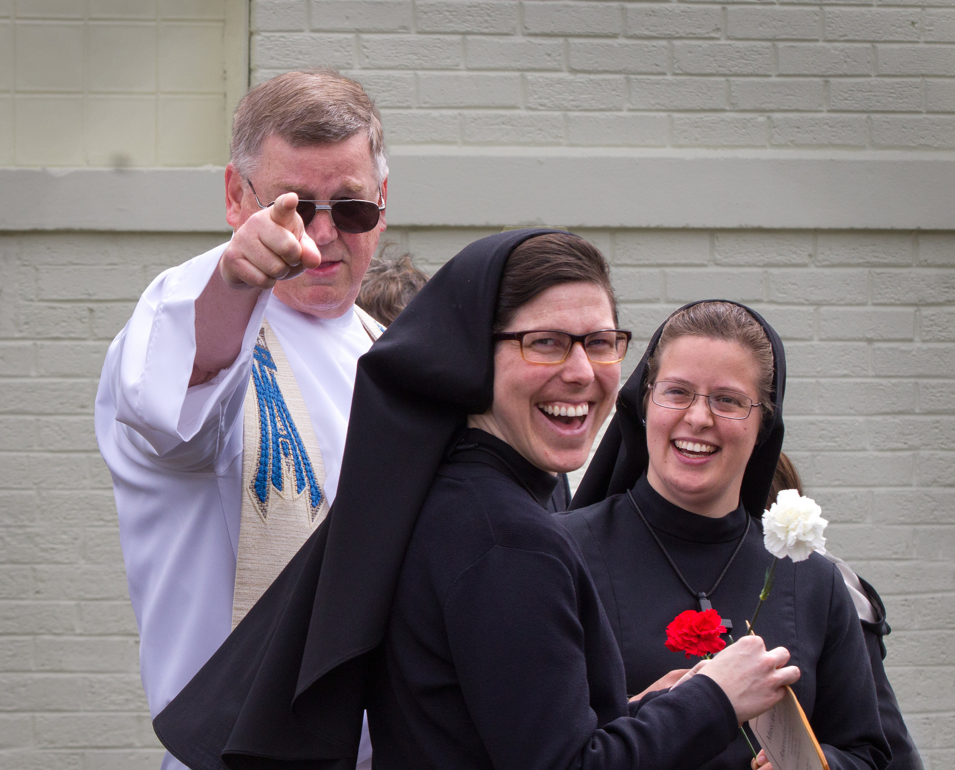 Fr. Tom Firestone with Sisters