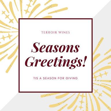 Seasons Greetings! Tis a Season for Giving