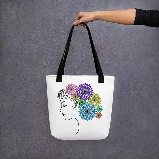 Jane Floral Mandala Tote Bag