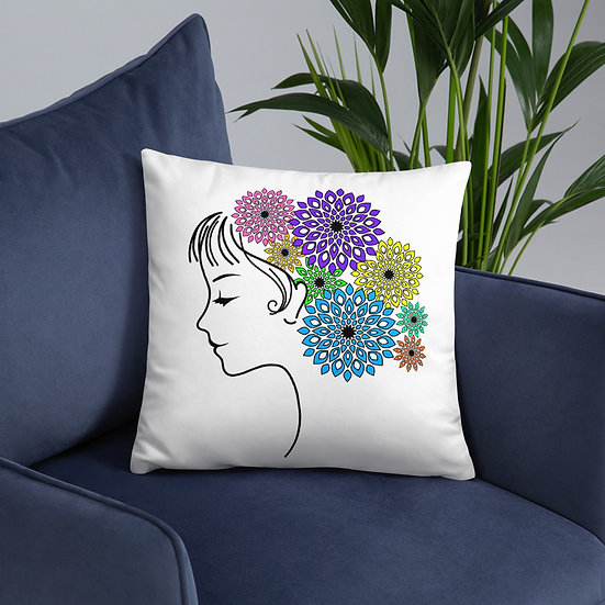 Jane Floral Mandala Design Pillow
