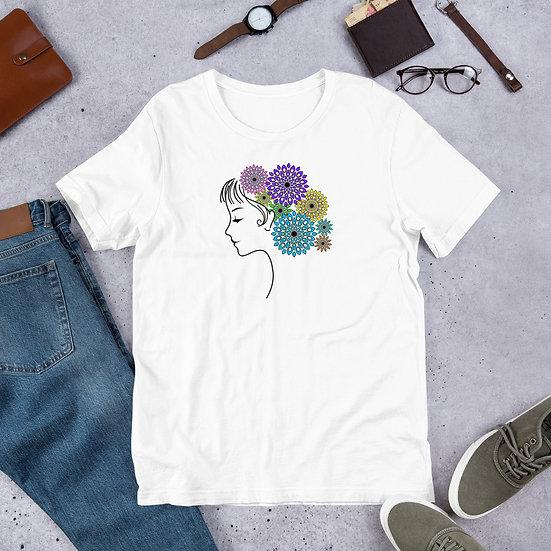 Jane Floral Mandala Design T-Shirt