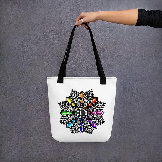 Mandala with 3D gemstone design Tote Bag