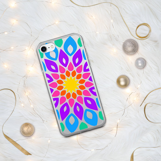Simple and Colorful Floral Mandala iPhone Case