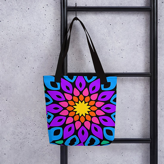 Colorful Simple Floral Mandala Totebag