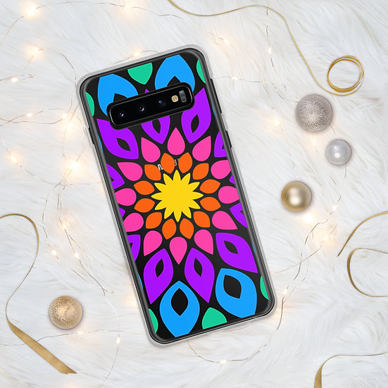 Simple and Colorful Floral Mandala Samsung Phone Covers