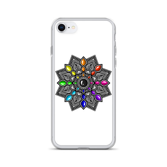Multi-color gradient Mandala iPhone Case
