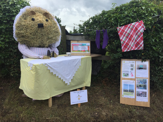 Mrs Tiggy-Winkle.  Weston Scarecrow Trail Winner 2019