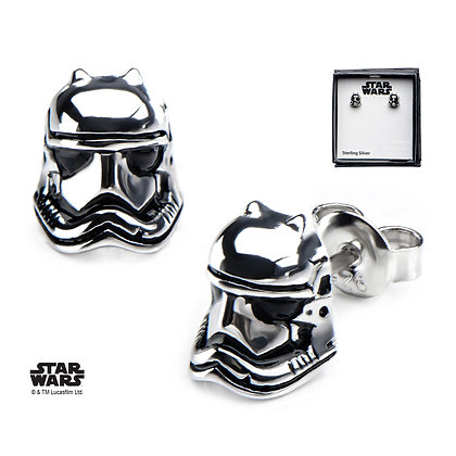 STAR WARS THE FORCE AWAKENS STORMTROOPER 3D EARRINGS