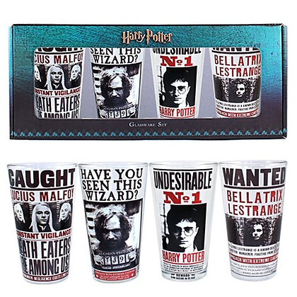 HARRY POTTER PROPAGANDA PINT GLASSES 4-PAC