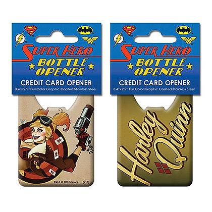 DC BOMBSHELLS HARLEY QUINN CREDIT CARD BOTTLE OPENER