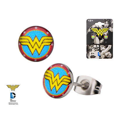 DC WONDER WOMAN CLASSIC COLOURED STUD EARRINGS