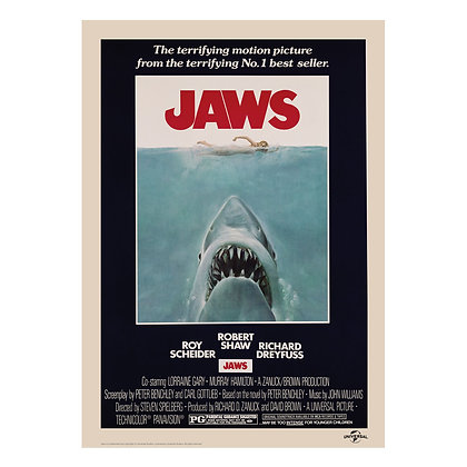 JAWS MOVIE POSTER DESIGN ART PRINT