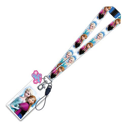 FROZEN ELSA & ANNA LANYARD WITH CHARM
