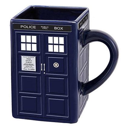 DOCTR WHO TARDIS LARGE SCULPTED CERAMIC MUG