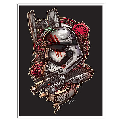 STAR WARS THE FORCE AWAKENS STORMTROOPER TATTOO ART PRINT