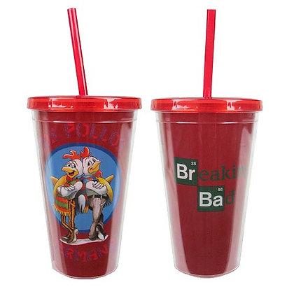 BREAKING BAD LOS POLLOS HERMANOS 16 OZ. PLASTIC TRAVEL CUP