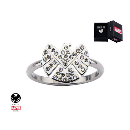 MARVEL AGENTS OF SHIELD LOGO BLING GEMS RING