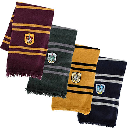 HARRY POTTER HOGWARTS HOUSE CREST SCARF