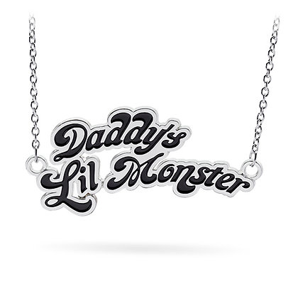 DC SUICIDE SQUAD DADDY'S LITTLE MONSTER STERLING SILVER NECKLACE