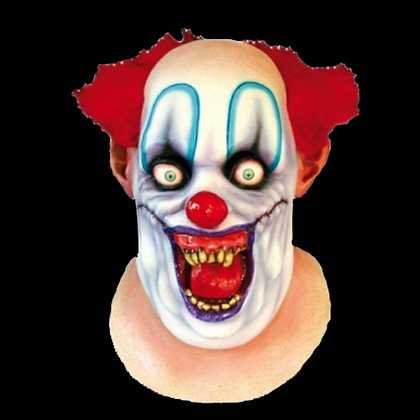 RICO THE CLOWN FULL HEAD AND NECK LATEX MASK