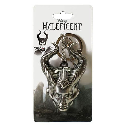 DISNEY MALIFICENT HEAD PEWTER KEYRING