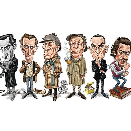 """SHERLOCK HOLMES """"THE GAME IS AFOOT!"""" HAND SIGNED LIMITED EDITION PRINT"""