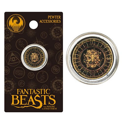 FANTASTIC BEASTS AND WHERE TO FIND THEM STYLE A LOGO PEWTER LAPEL PIN