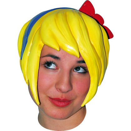 ANIME PIXIE LATEX WIG WITH BOW
