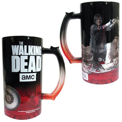 AMC THE WALKING DEAD DARYL DIXON ON MOTORCYCLE GLASS STEIN