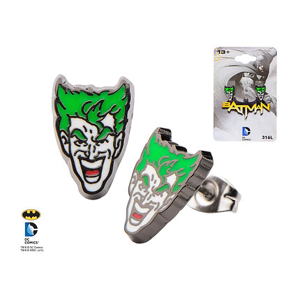 DC JOKER ENAMEL STUD EARRINGS