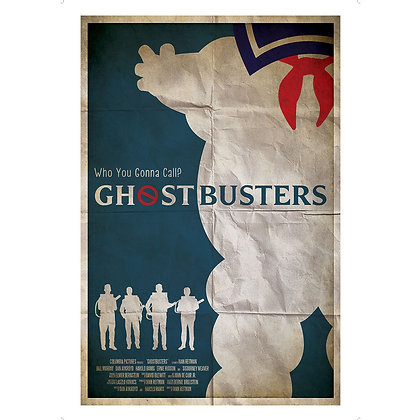 GHOSTBUSTERS RETRO STYLE ART PRINT