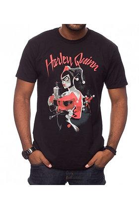 DC BATMAN HARLEY QUINN GUN T-SHIRT